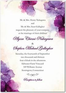 soft bougainvillea watercolor design wedding invitations With wedding paper divas pocket invitations