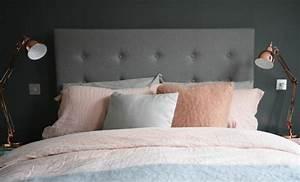 Lampe De Chevet Cuivre : 1001 conseils et id es pour une chambre en rose et gris sublime ~ Teatrodelosmanantiales.com Idées de Décoration