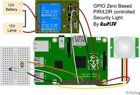 Wiring Diagram For Cctv Len by Gpio Zero Test Drive Light Of Security Raspi Tv