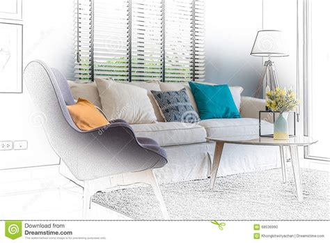 Modern Home Living Lounge Chair Royalty Free Stock Photo