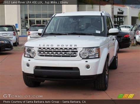 land rover lr4 white interior fuji white 2012 land rover lr4 hse lux ebony interior