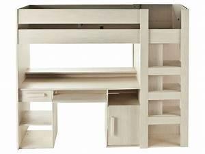 Lit Bureau Conforama : lit mezzanine 90x200 cm montana conforama pickture ~ Teatrodelosmanantiales.com Idées de Décoration