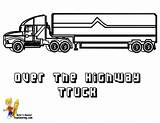 Coloring Pages Trucks Wheeler Truck Highway Template Printable Wheelers Cold Yescoloring Stone Templates Rigs Long sketch template