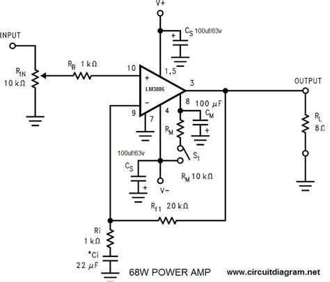 Power Amplifier With Circuit Diagram