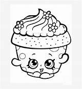Coloring Cupcake Pngkit Printable sketch template
