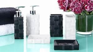 Accessoires Salle De Bain Design : accessoires salle de bain design noir ~ Melissatoandfro.com Idées de Décoration