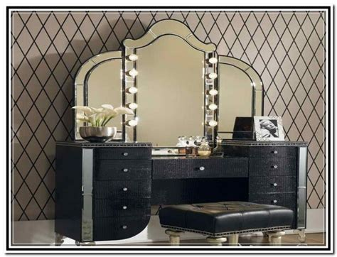 makeup desk with lighted mirror best lighted makeup vanity mirror doherty house