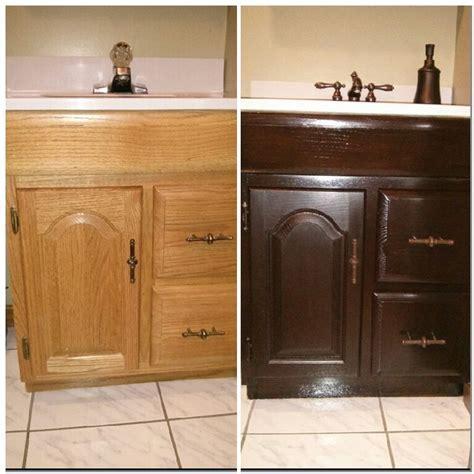 Like new bathroom vanity! General finishes Java gel stain