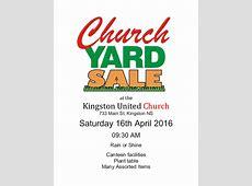 Church Yard Sale at United Church, Kingston April 16