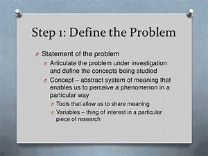Scientific method problem solving examples ...