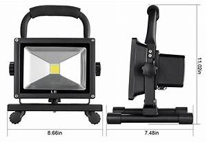 W rechargeable led flood light