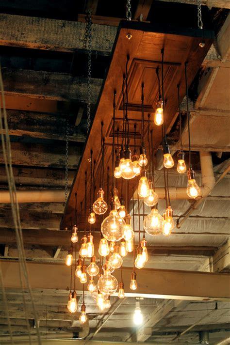 antique door repurposed  chandelier industrial