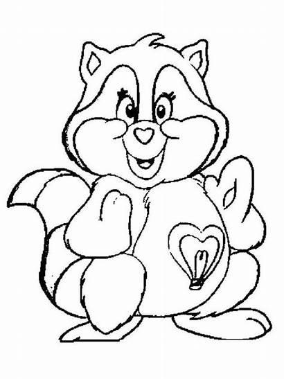 Raccoon Coloring Raccoons Mammals Mario Gaddynippercrayons Cartoon
