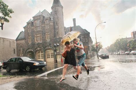 weather montreal puddle umbrella biggest forecasts rainy jumping jonathan clark ever forecast getty sources compare rain deluge saw comparison telegraph