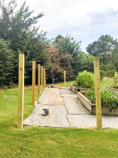 fence garden build power setting part wooden bowerpowerblog bower built fencing deck landscaping gardenites