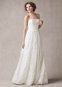 david39s bridal strapless sheath wedding dress with floral With wedding gown preservation davids bridal