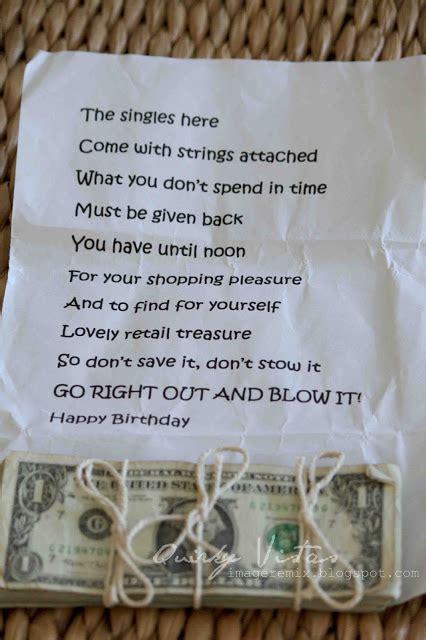 creative ways  give money nobiggie