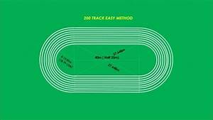 Track And Field Markings Diagram