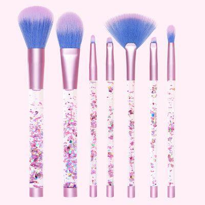aquarium brushes pink iridescent vegan makeup brushes