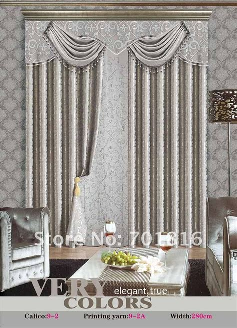 Silver Gray Valances by Grey Silver Pelmet Valance Drapes Curtains