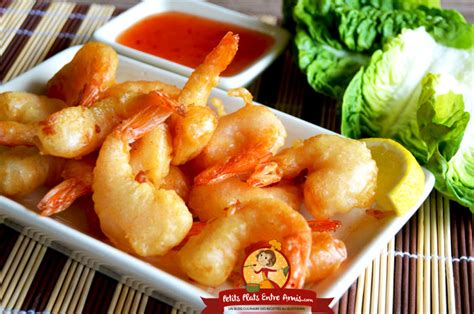 recette des beignets de crevettes petits plats entre amis