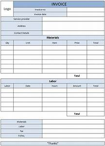 carpentry invoice template uk hardhostinfo With labor and material invoice template