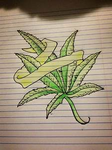 Pics For > Weed Drawings In Pencil