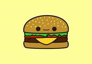 """Yummy kawaii burger"" by peppermintpopuk Redbubble"