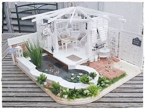 Laube Selber Bauen : laube mit teich dollhouse pinterest house dolls ~ Watch28wear.com Haus und Dekorationen