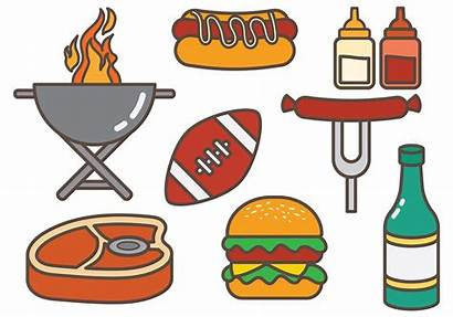 Tailgate Vector Party Clipart Graphics Bbq Vectors