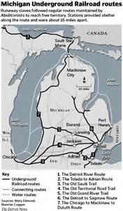 Michigan Underground Railroad Map