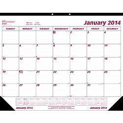 brownline monthly desk pad calendar brownline monthly desk pad calendar 22 x 17 january