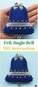 Diy Felt Jingle Bell Ornament Instructions