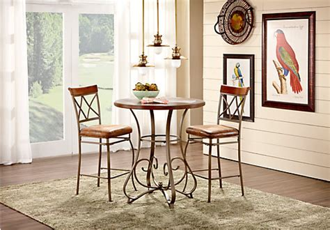 hartsburg metal 3 pc pub dining with top dining room sets