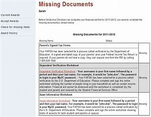 Student records streamlined oklahoma christian university for Missing documents images