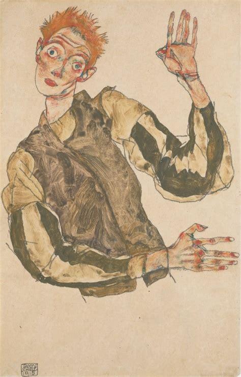 Bilder Kleben Gestreifte Kunst by Selbstdarstellung Mit Gestreiften 196 Rmels Egon Schiele