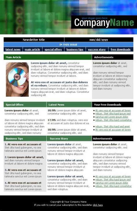 digital company newsletter template templatesboxcom