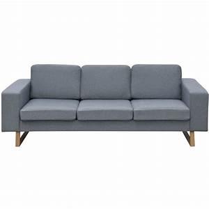 Sofa 3 Sitzer Günstig : vidaxl 3 sitzer sofa stoff hellgrau g nstig kaufen ~ Bigdaddyawards.com Haus und Dekorationen