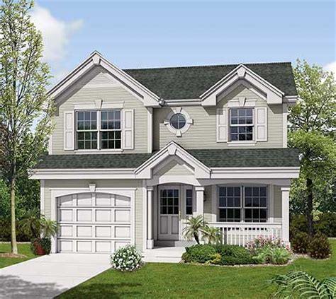 Two Story Small House Plans Compact Two Story For A Small Site 57117ha