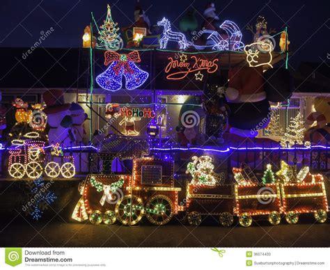 Christmas Lights Display For Charity Editorial Stock Photo