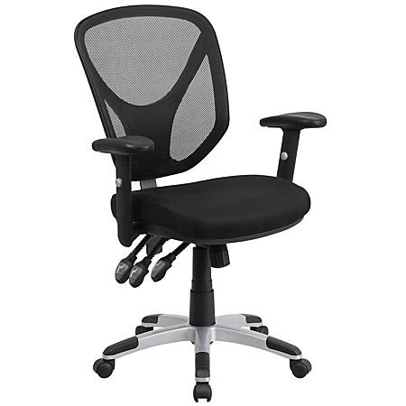 flash furniture mesh mid back swivel task chair with