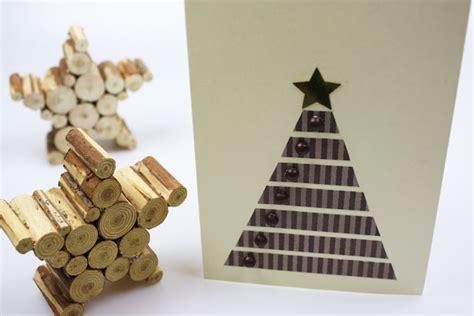 holz deko selber machen weihnachten weihnachtskarten basteln anleitung