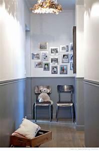 deco couloir long sombre etroit 12 idees pour lui With attractive peindre un couloir en 2 couleurs 1 peindre des bandes sur un mur peinture