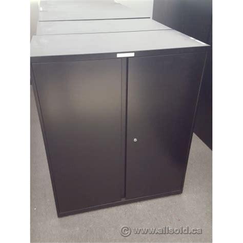 black metal storage cabinet teknion black 36x18x42 2 door metal storage cabinet