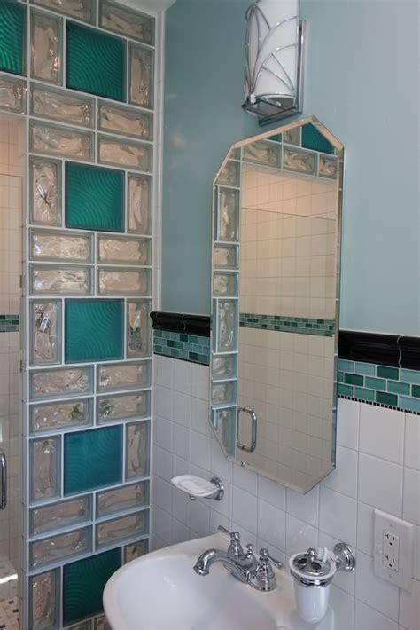contemporary  colored glass block designs  walls