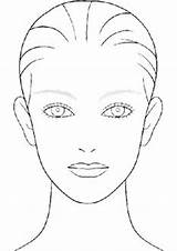 Template Makeup Sketch Face Blank Chart Charts Coloring Pages Faces Drawing Templates Sheets Practice Printable Sketchbook Beauty Drawings Sketchite Outline sketch template