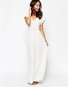 robe longue blanche dentelle pas cher le son de la mode With longue robe blanche pas cher