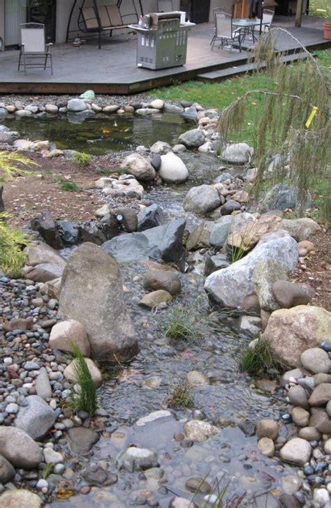 Natürlicher Bachlauf Garten teich mit bachlauf im garten anlegen tipps und ideen