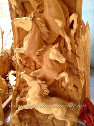 jual patung relief kuda berdiri kayu trembesi murah