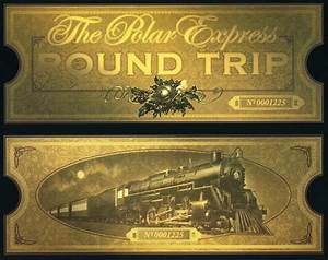 For the love of the child the polar express birthday for Polar express golden ticket template
